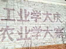 "Propaganda murals, ""Factories should learn from the masses, the famrs should learn from Dazhai"""