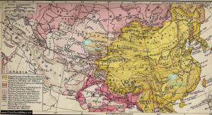 Qing Dinasty Map between the end of the '800s and early '900s.