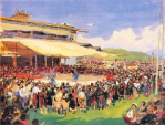 Festival in Mao'ergai , 1955, watercolor.