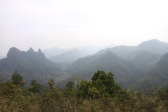 The view of Yangjiaoshi rocks on the fron valleys, perhas our next destination for another trek.