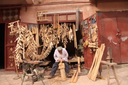Man working wood