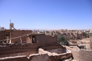 A view of Kashgar from the old city