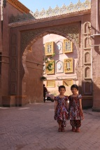 Kids playing in the old streets