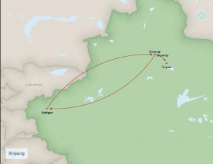 MAp xinjiang trip may 2014