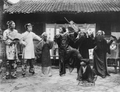 Chinese opera artists, by Leone Nani